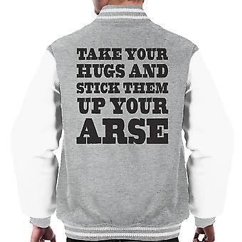 Ta din klemmer og henge dem opp din rompe menn Varsity jakke