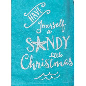 Have Yourself a Sandy Little Christmas Flour Sack 27 Inch Kitchen Dish Towel