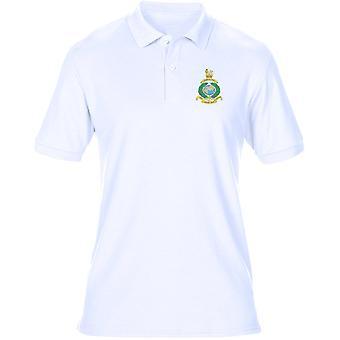 Royal Marines Globe und Laurel Motto Stickerei Logo - offizielle Herren Polo-Shirt