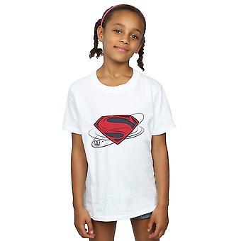 DC Comics ragazze Justice League film Superman Logo t-shirt