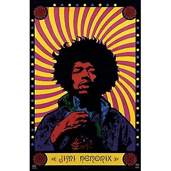 Jimi Hendrix - stampa Poster Poster psichedelico