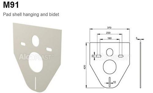 Toilet / Bidet Foam Pad Wall Hung Protector - Anti breakage - Silicone Free Inst
