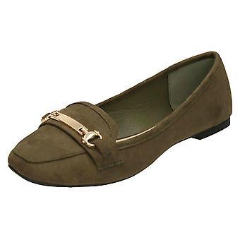 Dames plek op zadel Vamp molières - kaki microvezel - UK Size 7 - EU maat 40 - US maat 9