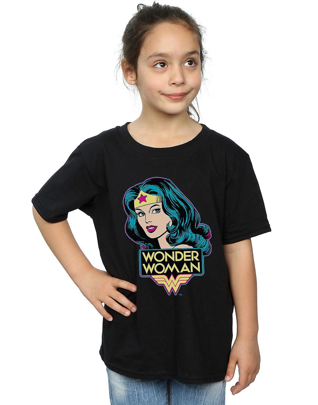 DC Comics Girls Wonder Woman Head T-Shirt
