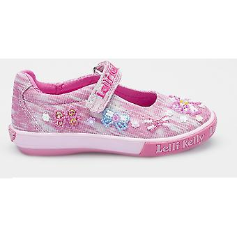 Lelli Kelly Bow Shiny LK5066 Pink Canvas Shoes