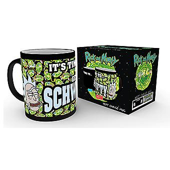 Rick and Morty Get Schwifty Heat Changing Mug