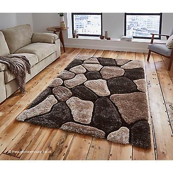 Slingeren Beige bruin tapijt