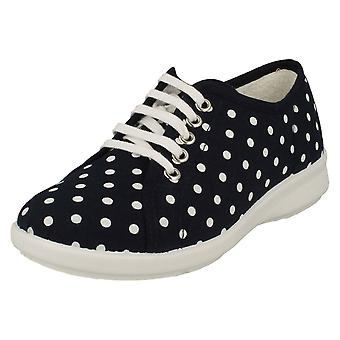 Damas Easy B Encaje Hasta Casual Canvas Zapatos West Port
