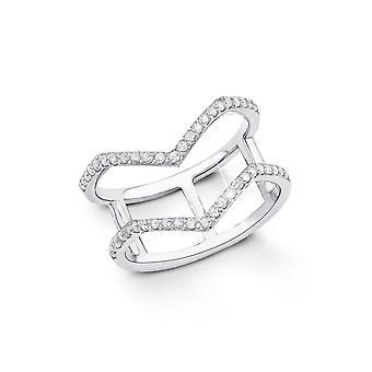 s.Oliver joia senhoras anel prata zircônia cúbica de prata SO1330