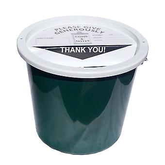 Charity Money Collection Bucket 5.7 Litres - Bottle Green