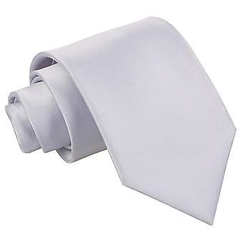 Sølv Plain Satin ekstra lange slips