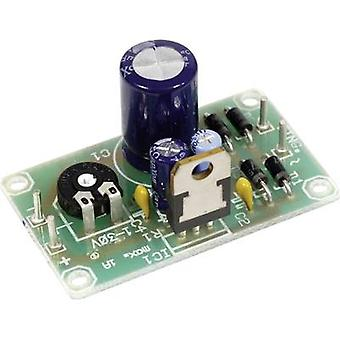 Circuit board voltage regulator for LM 317-T Output voltage 1.2 - 32 V DC pre-assembled (incl. voltage regulator)
