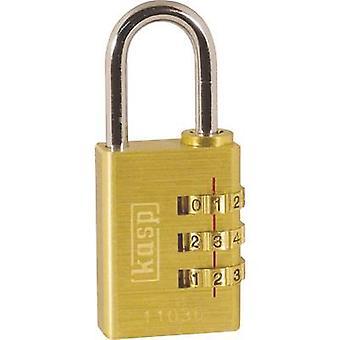 Kaspi K11030D hengelås 32 mm gull gul kombinasjon
