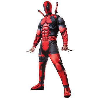Deadpool Deluxe Muscle Chest Marvel Comic Superhero Teen Mens Costume