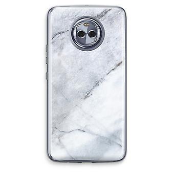 Motorola Moto X4 Transparent fodral (Soft) - marmor vit
