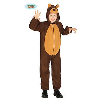 Guirca Teddy bear kostym för barn unisex Carnival Björn djur kostym brunbjörn