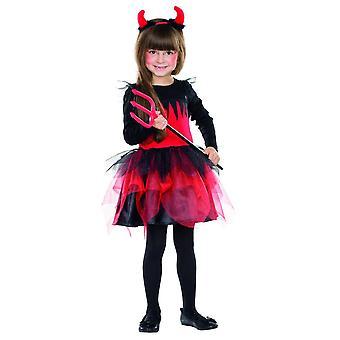 Djevelen kjole jente kostyme barna Halloween Demoness karneval djevelen