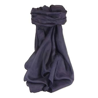 Mulberry jedwabiu klasyczne ręcznie farbowany ciemny kwadratowych szalik niebieski od Pashmina & Silk