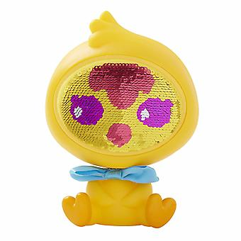 The Zequins Dazz Yellow Chicken toy Figure doll with sequins