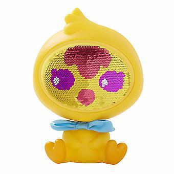 Den Zequins Dazz gule kylling legetøj figur dukke med pailletter