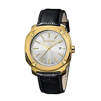 Wenger Unisex Quartz Analog leather strap Edge Adult Index No: 01.1141.113