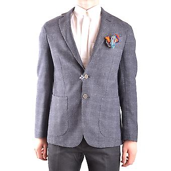 At.p.co Ezbc043021 Men's Grey Nylon Blazer