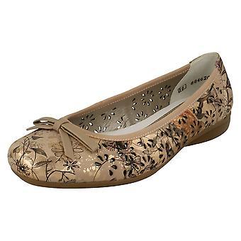 Szczegółowe damskie Rieker kwiat poślizgnąć się na buty L3856