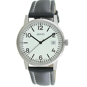 Aristo Submarine Men's Watch stainless steel 3H27 leather