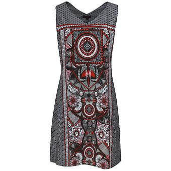 Aventures Des Toiles Sleeveless Art Print Cotton Sun Dress