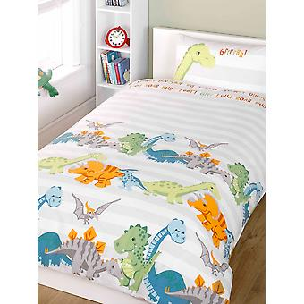 Dinosaurs Duvet Cover and Pillowcase Set