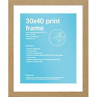 Eton encadrement chêne 30x40cm affiche / Print Frame