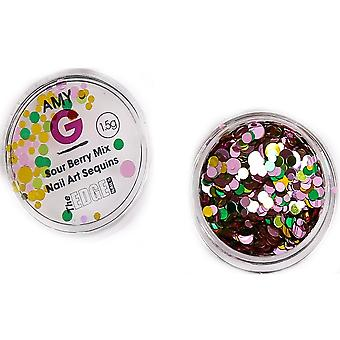 The Edge Nails Amy G - Sweet Nail Art Sequins - Sour Berry 1.5g (3003068)