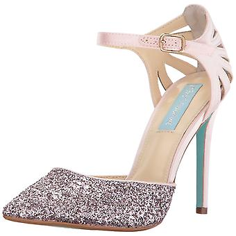 Betsey Johnson Womens Avery Pointed Toe Ankle Strap Classic Pumps