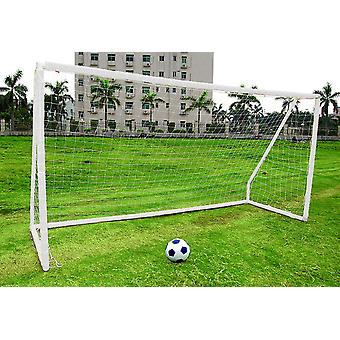 Charles Bentley Kids Junior 10ftx6ft White Portable Football Goal Inc. Net Clips & Ground Pegs