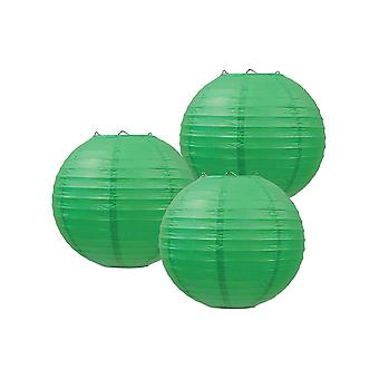 Paper Lanterns (Pack Of 3) - Green
