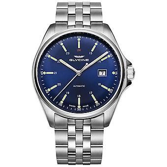 Glycine combat classic Automatic Analog Men's Watch with GL0102 Stainless Steel Bracelet