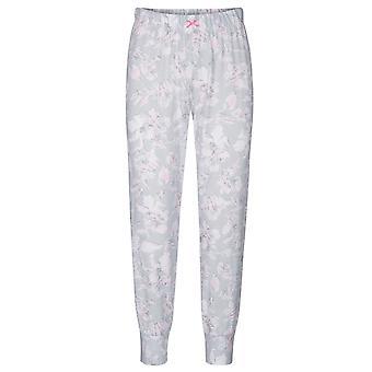Rösch 1884153-11913 Women's Smart Casual Everyday Grey Floral Cotton Pyjama Pant
