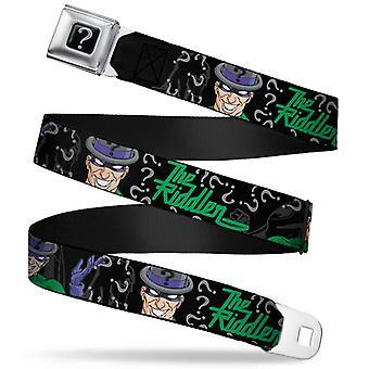 Seatbelt Belt - DC Comics - Riddler V.2 Adj 24-38' Mesh New rda-wrd001