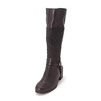 Charter Club Womens Helenn Closed Toe Knee High Fashion, Brown/Grey, Size 7.0