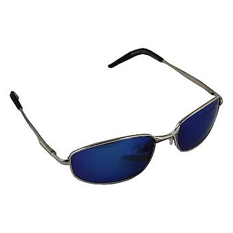 Men's Sunglasses Polaroid Rectangular - Silver/Blue with free brillenkokerS306_5