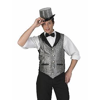 Casino Croupier Vest Costume Homme Disco Gentleman Wedding Vest Costume Homme