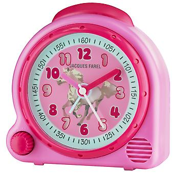 JACQUES FAREL Children's Alarm Clock Wekker analoge Quartz paard meisje AVC 03HOR Wake-up geluid