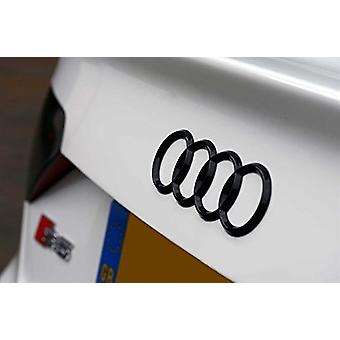 Gloss Black Rings Rear Boot Badge Emblem For Audi A1 A3 A4 A5 A6 S3 RS