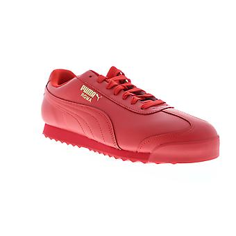 Puma Roma Basic Wrap  Mens Red Leather Low Top Sneakers Shoes