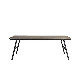 Light & Living Dining Table 220x100x76 Cm COMASA Antique Grey