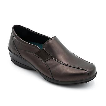 Padders Skye 2 Ladies Leather Wide (e/2e) Shoes Rosewood
