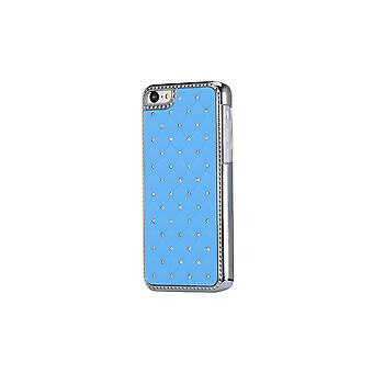 Hull For iPhone 5c With Strass On Blue Background