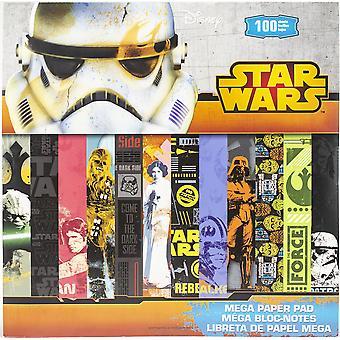 "SandyLion Disney Single-Sided Mega Paper Pad 12""X12"" 100/Pkg-Star Wars, 25 Designs/4 Each"