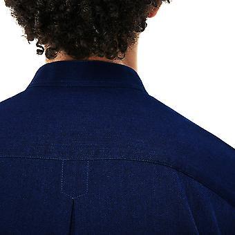 Lacoste Mens Regular Fit Lightweight Formal Denim Shirt