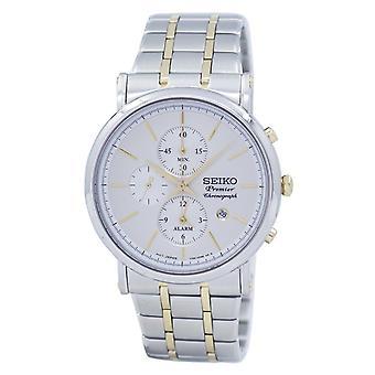 Reloj Seiko Premier Chronograph Alarma de Cuarzo SNAF80 SNAF80P1 SNAF80P Men's